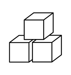 sugar cubes isolated icon design vector image vector image