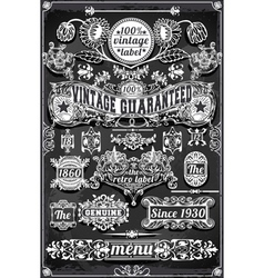Vintage hand drawn graphic banners and labels on vector
