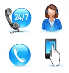 customer service support vector image vector image
