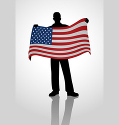 flag holder vector image vector image