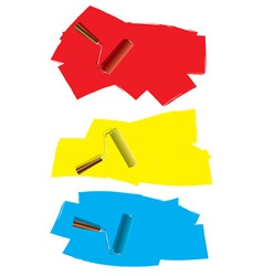Roller paint concept vector image vector image
