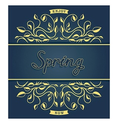 Spring card with floral pattern vector image vector image