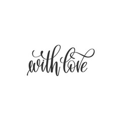 with love hand lettering inscription to holiday vector image vector image