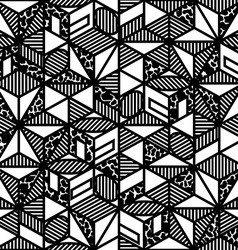 abstract black and white cube geometric pattern in vector image vector image