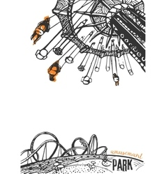 Amusement Park on a White Background vector image