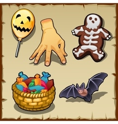 Different symbols for Halloween and other design vector image
