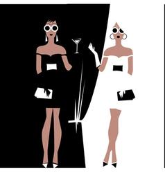 fashion divas vector image