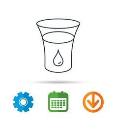 glass of water icon drop sign vector image