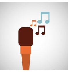 microphone music note singer vector image