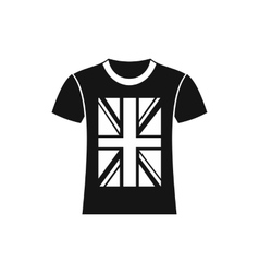 T-shirt with the British flag icon simple style vector image