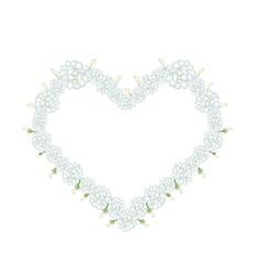 White Jasmine Flowers in A Heart Shape vector image