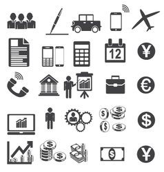 Business Icons Simplus serie vector image