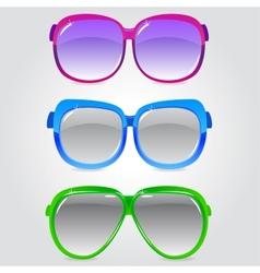 glasses 3 vector image