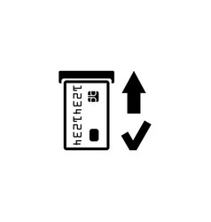 Insert credit card icon shopping sign bank atm vector