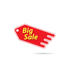 price tag with a big sale sign vector image vector image