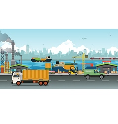 Transportation and warehousing industry vector image