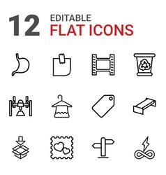 12 empty icons vector
