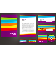 Abstract creative corporate identity line colorful vector