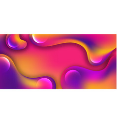 abstract purple yellow pink and blue liquid wavy vector image