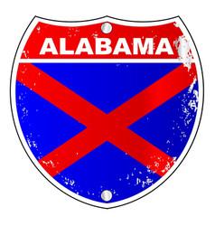Alabama interstate sign vector