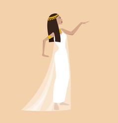Ancient cartoon egiptian woman vector