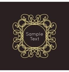 Art Deco geometric outline Monogram and Logo vector image