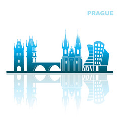 Attractions prague abstract landscape vector