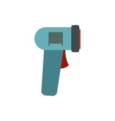 Barcode scanner icon flat style vector image