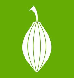 Black cardamom pod icon green vector
