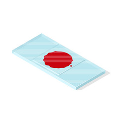 blood on slide vector image