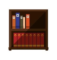 Book on shelf wooden shadow vector