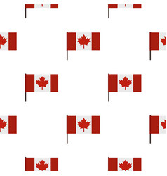 canadian flag pattern seamless vector image