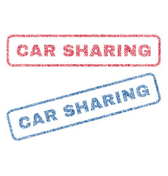 Car sharing textile stamps vector