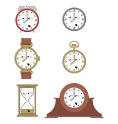 Cartoon funny clock face smiles 014 vector