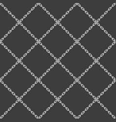 chain seamless pattern black vector image vector image