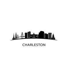 charleston city south carolina skyline vector image
