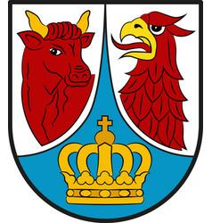 Coat of arms of dahme-spreewald in brandenburg vector