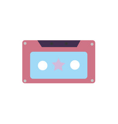 colorful old cassette retro object stereo vector image