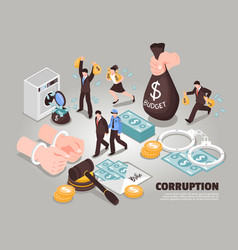 corruption isometric vector image