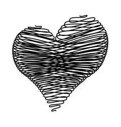 crayon valentine22 00 00 vector image