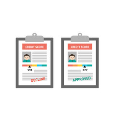 credit score scale concept flat vector image