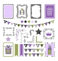 Design Elements for holiday party congratulation vector image