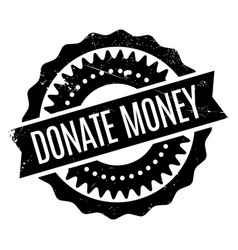 Donate money rubber stamp vector
