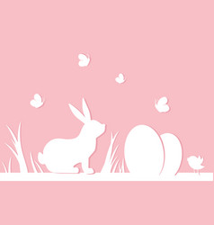 easter pink background vector image
