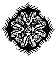 Eastern black-and-white pattern vector