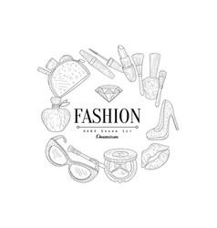 fashion vintage sketch vector image