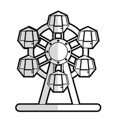 Ferris wheel carnival or fair icon image vector