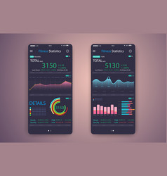 Fitness app ui ux design web design mobile vector