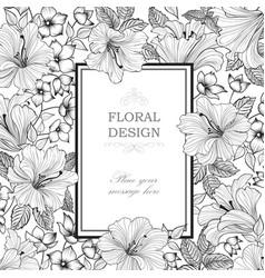Floral background garden flower bouquet spring vector