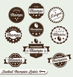 Football Champs Labels vector